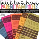 Back To School Parent Pamphlets