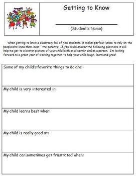 Back To School - Parent Survey