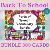 Back To School Parts of Speech Vocabulary 2nd and 3rd Grad