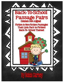 Back To School Passage Pairs