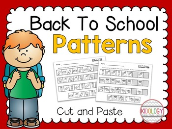 Pattern Worksheets / Patterning Practice / Back To School Activities