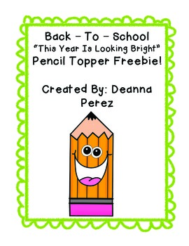 Back-To-School Pencil Topper