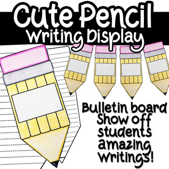 Back To School Pencil Writing Display