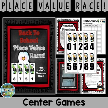 Back To School Penguin Place Value Math Center Games