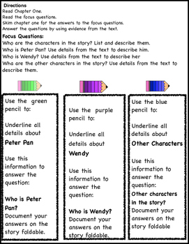 THE PETER PAN STORY READING COMPREHENSION ACTIViTIES AND PROJECTS CHAPTER 1