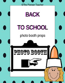 Back To School Photo Booth Props {Editable}