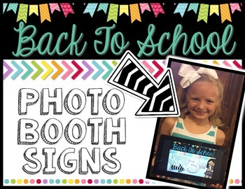 Back To School Photo Booth Signs