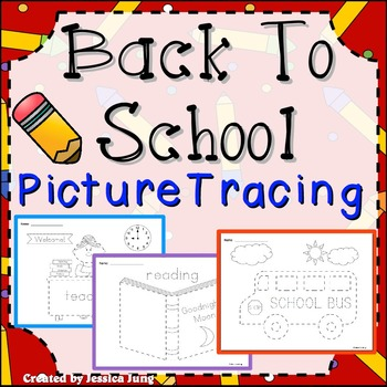 Back To School Picture Tracing