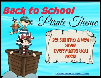 Back To School Pirate Theme Super Pack