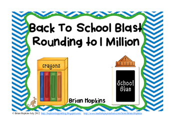 Back To School Place Value Rounding Blast to 1 Million FREEBIE
