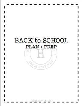 Back-To-School Plan + Prep
