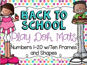 Back To School Play Doh Mats