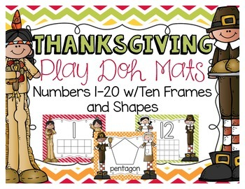 Thanksgiving Play Doh Mats