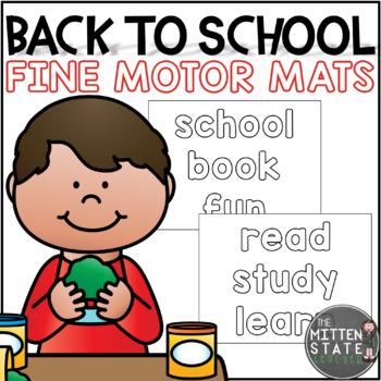 Play Dough Mats {Back To School}
