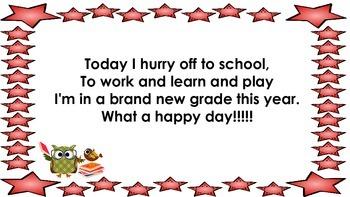 Back To School Poem - A FREEBIE