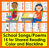 Back To School Activities: Poems & Songs