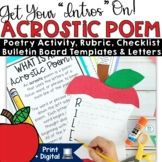 Acrostic Apples Poetry Writing