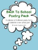 Back To School Poetry Pack