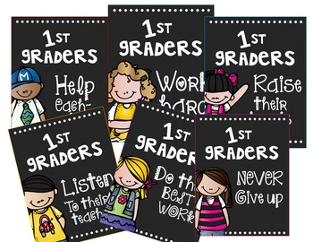 Back To School Posters 1st Grade