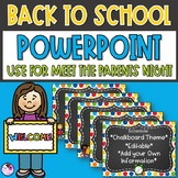 Back To School PowerPoint Chalkboard *editable*