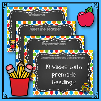 Back To School PowerPoint Chalkboard *editable*
