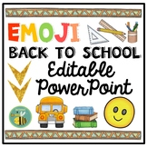 EMOJI Back To School PowerPoint {EDITABLE}