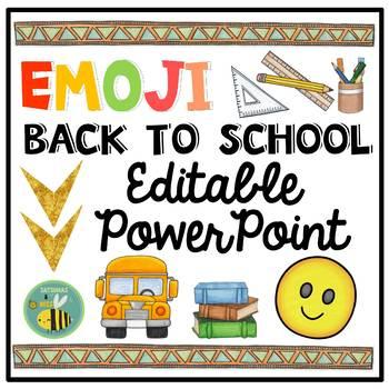 EMOJI Back To School PowerPoint {EDITABLE}