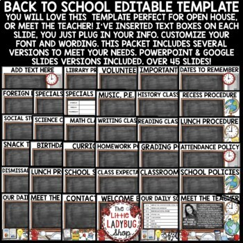 Back To School PowerPoint for Open House and Meet The Teacher Template EDITABLE