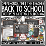 Back To School: Open House PowerPoint and Meet The Teacher Template EDITABLE