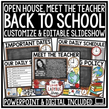 Meet the Teacher Template Editable: Back to School Night, Open House  PowerPoint