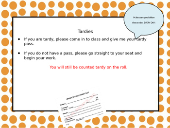 Back To School PowerPoint Presentation - Rules, Policies, Etc.