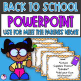 Back to School PowerPoint Presentation Template Editable Slides School Theme