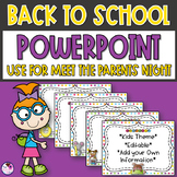 Back to School PowerPoint Presentation Template Editable Slides Kids Theme
