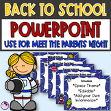 Back to School PowerPoint Presentation Template Editable Slides Space Theme