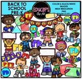 Back To School Pre K Clip Art Bundle {Educlips Clip Art}