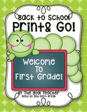Back To School Print, Rhyme & Go! First Grade, Common Core Aligned