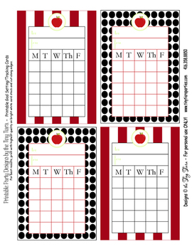 Back To School Printable Goal Setting Incentive Cards