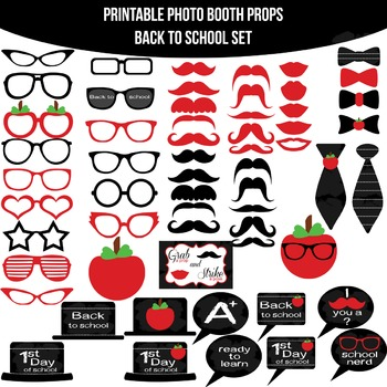 Back to School Printable Photo Booth Prop Set