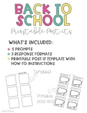 Back To School Printable Post-Its