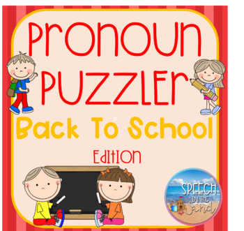 Back To School Pronoun Puzzler