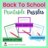 Back To School Puzzle Collection-50+ Unique BTS Puzzles-Supports Problem Solving