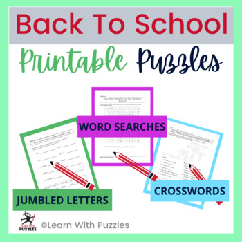 Back To School Puzzles | 55 Unique BTS Puzzles | Distance Learning