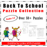 Back To School Puzzle Collection-50+ Unique BTS Puzzles-Su