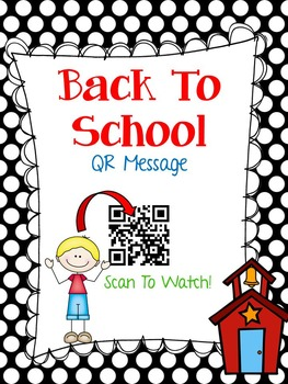 Back To School QR Handout