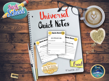 Back To School - Quick Notes!