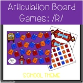Back To School /R/ Articulation Board Games