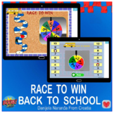 Back To School Race To Win Dice Spinner Game Back To Schoo
