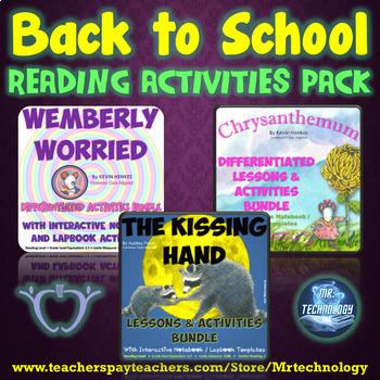 Back To School Reading Pack: Chrysanthemum, Wemberly Worri