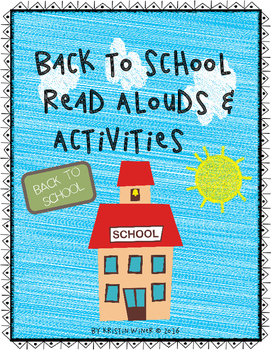 Back To School Read Alouds and Activities-Build Classroom Community