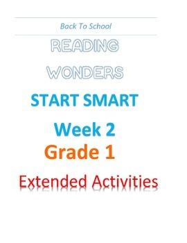 Back To School Reading Wonders Start Smart Grade 1 Week 2